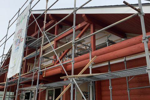 西予市野村町 ログハウス新築工事